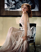 Sheer Acrylic Prints - Rita Hayworth, Ca. 1940s Acrylic Print by Everett