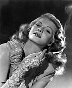Smoking Book Framed Prints - Rita Hayworth, Columbia Pictures, 1940s Framed Print by Everett