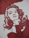 Movie Icon Drawings Posters - Rita Poster by Lynet McDonald