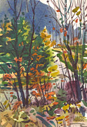 Foliage Paintings - River Bend by Donald Maier
