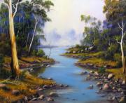 River Reliefs - River Gumtrees by John Cocoris