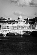 Repaired Photo Posters - River Liffey Dublin City Center Poster by Joe Fox