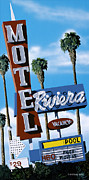 Old Signs Paintings - Riviera Motel by Anthony Ross
