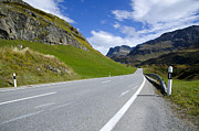 Mountain Road Prints - Road and mountain Print by Mats Silvan