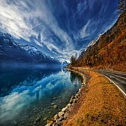 Blue Photos - Road To No Regret by Philippe Sainte-Laudy