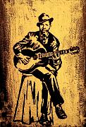 Celebrities Mixed Media Metal Prints - Robert Johnson Metal Print by Jeff DOttavio
