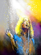 Led Zeppelin Art - Robert Plant 02 by Miki De Goodaboom