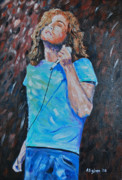 Robert Plant Paintings - Robert Plant by Stanton Allaben