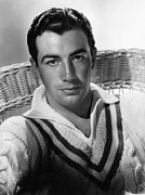 V-neck Sweater Posters - Robert Taylor, Mgm Portrait By Hurrell Poster by Everett
