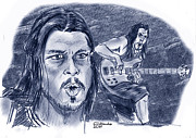 Metallica Drawings - Robert Trujillo by Chris  DelVecchio