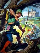 Folklore Prints - Robin Hood Print by James Edwin McConnell