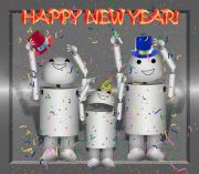 Robotics Mixed Media - Robo-x9 New Years Celebration by Gravityx Designs