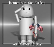 Memorial Day Mixed Media - Robo-x9 Remembers by Gravityx Designs
