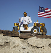 Robonaut Prints - Robonaut 2 Poses Atop Its New Wheeled Print by Stocktrek Images