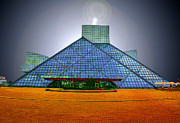 Hall Digital Art Prints - Rock and Roll Hall Of Fame Print by Kenneth Krolikowski