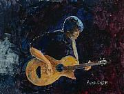 Guitars Paintings - Rock n Roll by Arline Wagner