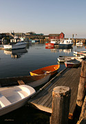Dinghy Photos - Rockport Dinghies  by Michelle Wiarda