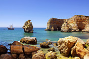 Algarve Framed Prints - Rocky coast Framed Print by Carlos Caetano