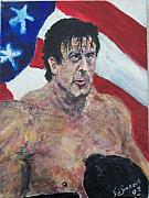 Stallone Paintings - Rocky by Francis Bourque