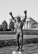 The Tiger Metal Prints - Rocky Statue - Philadelphia Metal Print by Brendan Reals