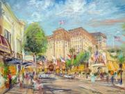 Street Scene Pastels - Rodeo Drive by Kamil Kubik