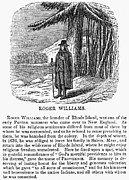 Clergy Photos - Roger Williams (1603-1683) by Granger
