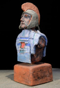 Helmet Ceramics - Roman Legionaire - Warrior - ancient Rome - Roemer - Romeinen - Antichi Romani - Romains - Romarere by Urft Valley Art