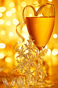 Champagne Photos - Romantic holiday celebration by Anna Omelchenko
