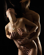 Intimacy Photo Posters - Romantic Nude Couple Making Love Poster by Oleksiy Maksymenko