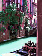 Gondola Mixed Media Framed Prints - Romantic Venice Framed Print by Jerry L Barrett