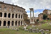 Archeology Prints - Rome - Theatre of marcellus Print by Joana Kruse