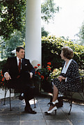 1980s Framed Prints - Ronald Reagan. President Reagan Framed Print by Everett