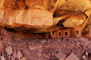 Ruin Photo Prints - Roof Falling In Ruin Utah Print by Bob Christopher