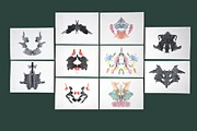 Psychology Photo Prints - Rorschach Inkblot Test Print by Sheila Terry