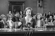 First Ladies Posters - Rosalynn Carter Testifies Before Senate Poster by Everett
