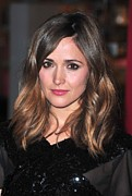 Pink Lipstick Framed Prints - Rose Byrne At Arrivals For The Museum Framed Print by Everett