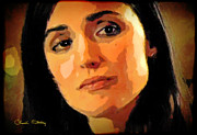 Movie Star Mixed Media - Rose Byrne by Chuck Staley