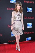 Beige Dress Framed Prints - Rose Byrne Wearing A Valentino Dress Framed Print by Everett