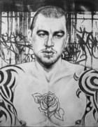 Homo-erotic Prints - Rose Tattoo Print by Carmine Santaniello
