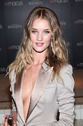 Natural Makeup Posters - Rosie Huntington-whitely At In-store Poster by Everett