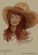 Primitive Pastels Framed Prints - Rosie was a good ole girl Framed Print by Susan Gahr