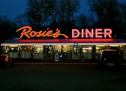 Parking Lot Prints - Rosies Diner Print by Odd Jeppesen