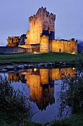 Kerry Photos - Ross Castle at night Killarney Ireland by Pierre Leclerc