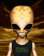 Alien Eyes Photos - Roswell Alien by Victor Habbick Visions