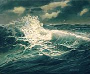 North Sea Paintings - Rough Seas by Sharon Kearns