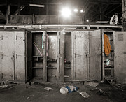 Roundhouse Lockers Print by Jan Faul