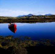 Small Boats Prints - Roundstone, Connemara, County Galway Print by The Irish Image Collection