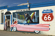 Pink Hot Rod Photos - Route 66 Elvis by Bob Christopher