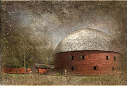 Restoration Digital Art Prints - Route 66 Round Barn Print by Betty LaRue
