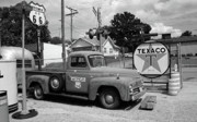 Murals Prints - Route 66 - Sheas Gas Station Print by Frank Romeo